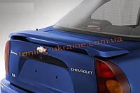 Спойлер Юрол без стопа из стеклопластика на Daewoo Lanos 1997 седан
