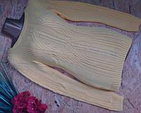 Свитер Джемпер из вискозы 603 желтый 42-48р