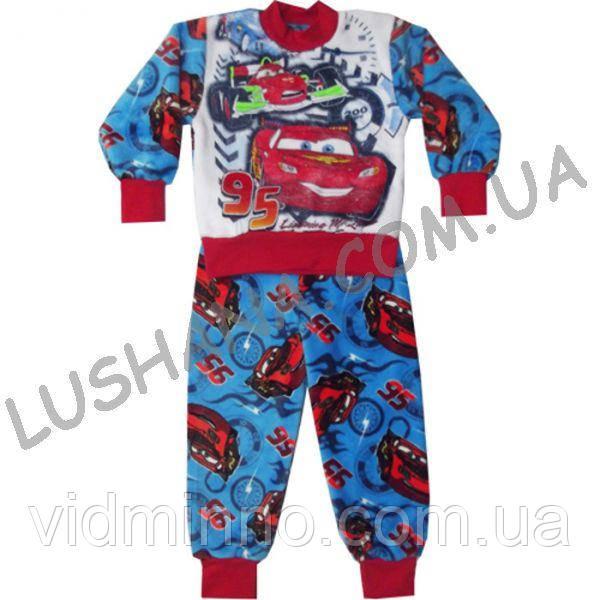 Махровая пижама Тачки на рост 98-104 см - Вельсофт