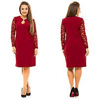 Платье с гипюром в расцветках 20646, фото 1