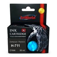 Струйный картридж JetWorld для  HP 711  (отображается уровень чернил) (CZ130A)