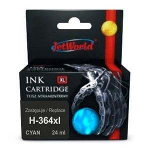 Струйный картридж JetWorld для  HP 364XL (отображается уровень чернил)  CB323EE