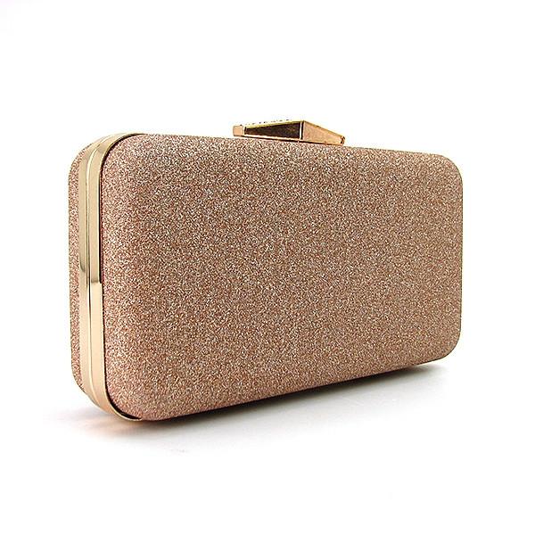 5a9591b47eec Бежевая маленькая сумочка вечерняя клатч-бокс с блестками - Интернет магазин  сумок SUMKOFF - женские