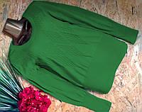 Свитер Джемпер из хлопка 1549 зеленый 42-46р