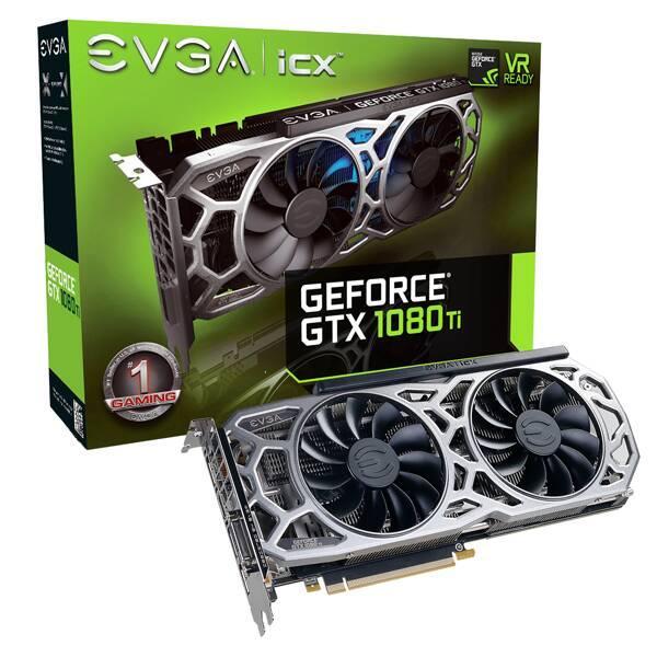 """Видеокарта EVGA GeForce GTX1080 Ti SC2 GAMING (11G-P4-6593-KR) """"Over-Stock"""" Б/У"""