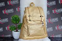 Стильный золотой рюкзак., фото 1