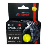 Струйный картридж JetWorld для HP 920XL (отображается уровень чернил)  CD974AE