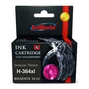 Струйный картридж JetWorld для  HP 364XL (отображается уровень чернил)  CB324EE