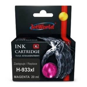 Струйный картридж JetWorld для  HP 933XL (отображается уровень чернил)  CN055AE