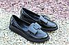 Стильные женские туфельки Olli натур лак
