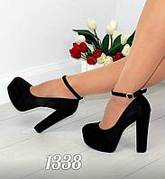 Туфельки на каблуке с ремешком