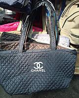 Стеганая женская спортивная сумка Chanel тканевая