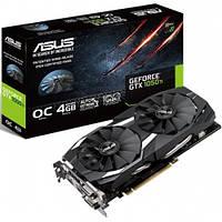 Видеокарта GeForce GTX1050Ti OC, Asus, 4Gb DDR5, 128-bit, DVI/HDMI/DP, 1455/7008 MHz (GTX1050TI-DC2O4G)