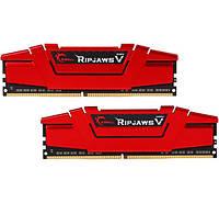 Оперативная память для компьютера 8Gb x 2 (16Gb Kit) DDR4, 2400 MHz, G.Skill Ripjaws V, 15-15-15-35, 1.2V, с радиатором (F4-2400C15D-16GVR)