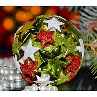 """Набор Новогодних шаров """"Снежинка"""" 3d Размер упаковки 24*8*8 см."""