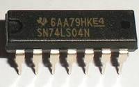 SN74LS04N, Шесть независимых инверторов, DIP-14