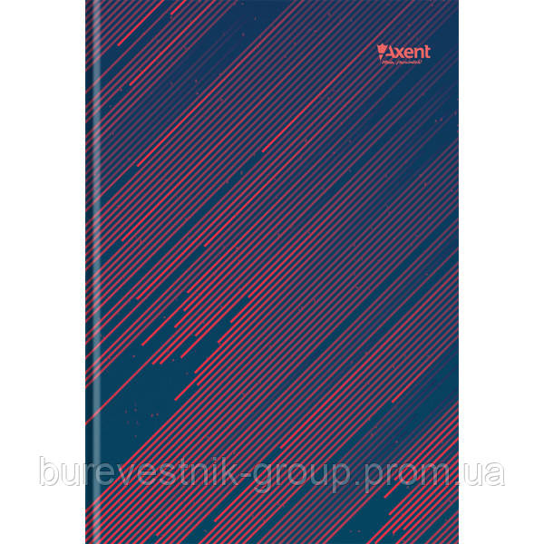 """Книга записная Axent  """"Diagonal"""", А4, картонная обложка, 192 л (8423-106-A)"""