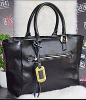 Сумка натуральная кожа ss258465  кожаные сумки графит, чёрный