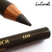 Карандаш для бровей LaCordi №104 Мягкий графит