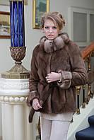 Шуба полушубок из канадской норки цвета пастель BlackNafa mink fur coat fur-coat furcoat, фото 1