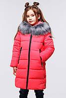 Удлиненная зимняя куртка для девочки Nui very