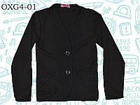 Пуловер для девочки  (кофта на пуговицах) р.122,128,134,140,146,152,158,164 SmileTime, черный