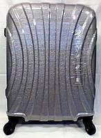 Чемодан пластик глянец 360* Luis Kaizer  203-70 большой серый