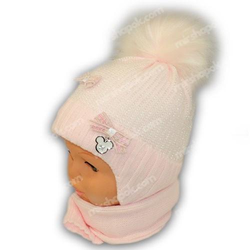 Комплект (шапка+шарф) для девочки