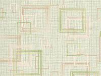 Обои бумажные Квадрат  27,4 6486-04 салатовый (остаток 1 рулон)