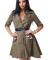 Женское платье из парки (2054 br)