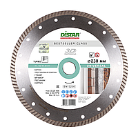 Алмазный диск Distar 1A1R Turbo 230 x 2,6 x 9 x 22,23 Bestseller Universal 3D (10215129017), фото 1