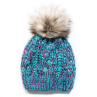 Зимняя детская шапка для девочки Nano F17 TU 1252Peacock Blue. Размеры  4/6х- 7-12.