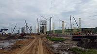 """Зерновой терминал """"Нибулон"""", г. Вознесенск. Эмаль ПФ-115 (RAL 1015)"""