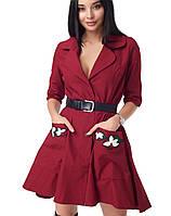 Женское платье из парки (2054 br) красный