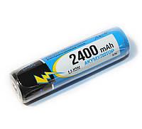 Перезаряжаемая батарейка (аккумулятор) 18650, 2400 mAh, Raymax, 1 шт, Li-ion, с защитой