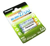 Перезаряжаемая батарейка (аккумулятор) AA, 2700 mAh, Panasonic, 2 шт, 1.2V, Box (BK-3HGAE/2BE)