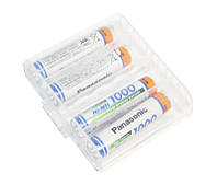 Перезаряжаемая батарейка (аккумулятор) AAA, 1000 mAh, Panasonic, 4 шт, 1.2V, Box (BK-4HGAE)