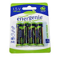 Батарейка AA (LR6), щелочная, EnerGenie, 4 шт, 1.5V, Blister (EG-LR6-4BL/4)