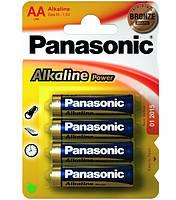 Батарейка AA (LR6), щелочная, Panasonic Alkaline Power, 4 шт, 1.5V, Blister (LR6APB/4BP)