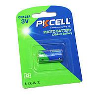 Батарейка CR123A, литиевая, PKCELL, 1 шт, 3V, Blister (566027)