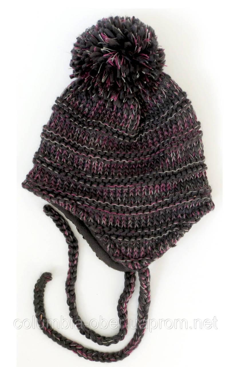 Зимняя детская шапка для девочки Nano F17 TU 262Black. Размеры 4/6- 7/12.
