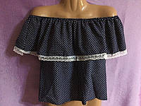 Блуза летняя в горошек