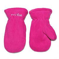Зимние флисовые рукавицы для девочки Nano BMITP500-F17 Mauve Rose. Размеры 12/24 мес -10/12.