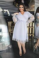 Платье с вышивкой в расцветках 20654, фото 1