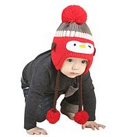 """Теплая детская шапка """"Пингвинчик"""", фото 1"""