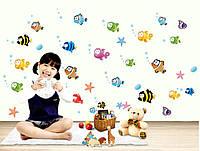 Детская Интерьерная наклейка Рыбки (AY618)