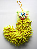Детское полотенце-игрушка из микрофибры, Губка Боб