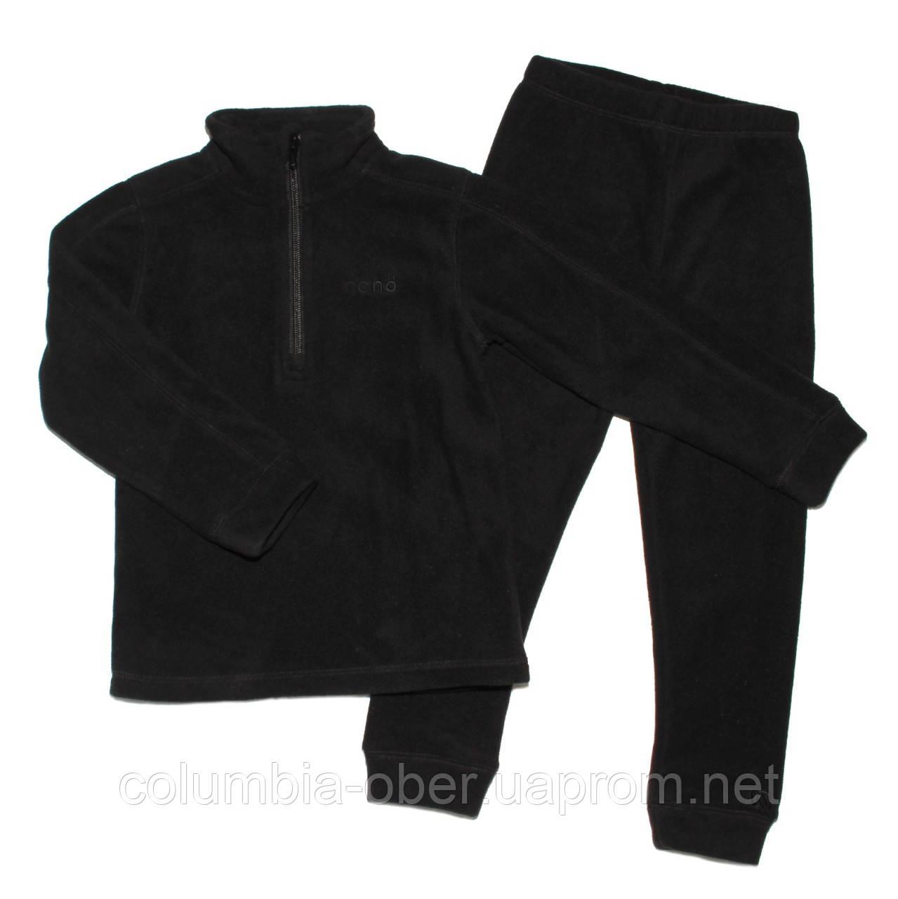 Флисовый костюм для мальчика NANO BUWP600-F17Black. Размер 89-46.