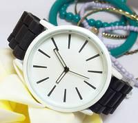 Часы Женева Кварц с силиконовым ремешком черные