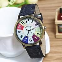 Часы женские в винтажном стиле черный ремешок